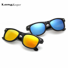 LongKeeper Kids Sunglasses Brand Designer Sun Glasses for Children Boys Girls Fashion Eyewares Oval UV 400 Eyewares Gafas de Sol