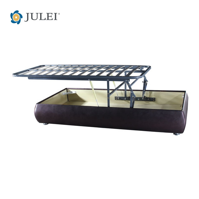 new arrival gas lift up metal bed frame with storage space DJ-ALL06
