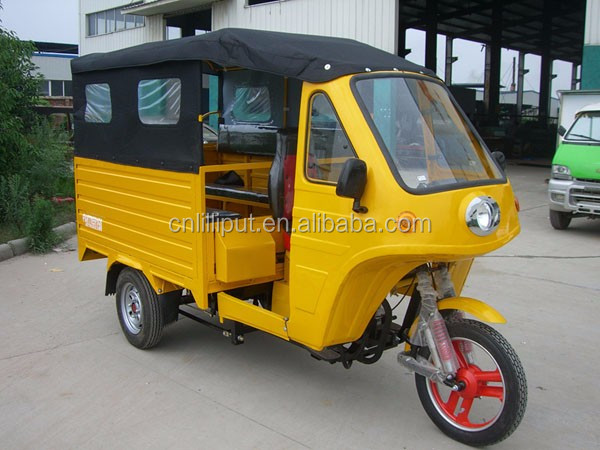 Closed Cabin Big Size Cargo Box 200cc Gasoline Tricycle