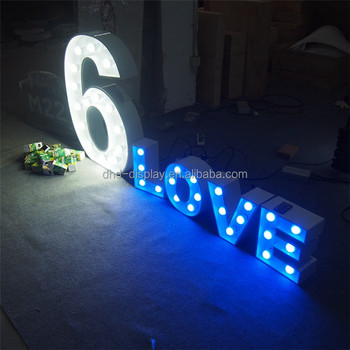 Light Bulb Word Positive White Led Letter Lights Sign