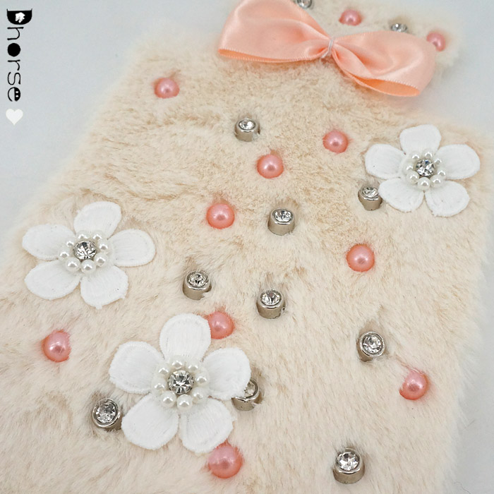 13*22cm DIY Perfume Bottle Design Rhinestone Beaded Fur Patch with 3d flower