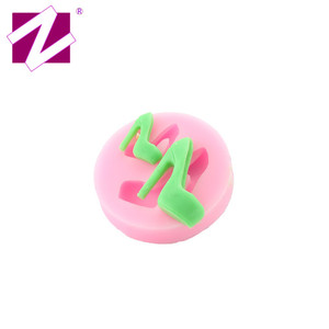 China supply high quality custom design high heel shoe fondant silicone mold, high working temperature silicone mold