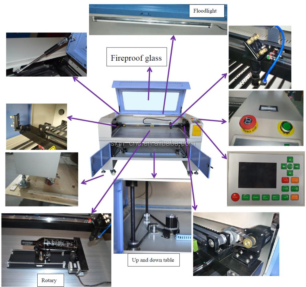 Acrylic letter laser cutting machine 1390