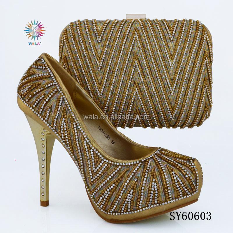 shoes Fuchsia 2 and lady bag SY60603 women set square high for heel YRdwFq
