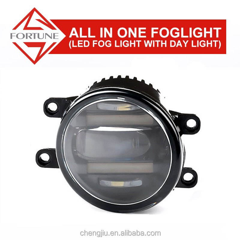 Japanese toyota car accessories 12 volt led lights ,2009 2012 Toyota Matrix auto drl lens led fog lamp