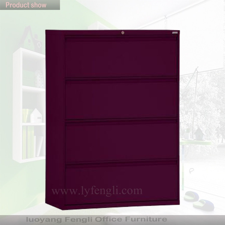 Godrej 4 Drawer Lateral Steel Filing Cabinet/steel Almirah Library ...