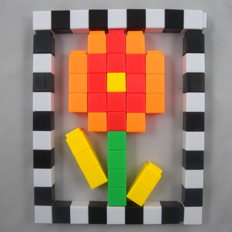 Funny Kids Ontwikkeling Speelgoed Plastic Math Stapelen Cubes kind speelgoed QL-015 (C)