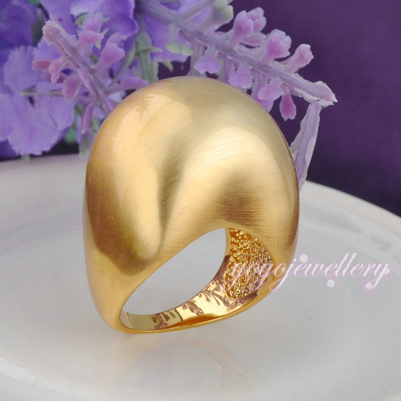 New fashion ball shape finger ring without stone white gold plated ...