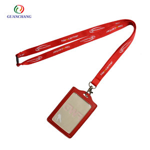 Custom cheap pu leather holder neck strap cell phone lanyard
