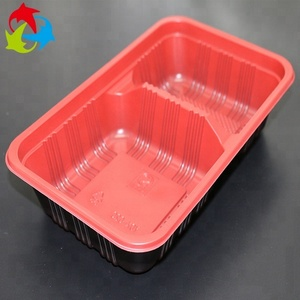 Custom 2 Compartments Plastic Food Grade Blister Tray