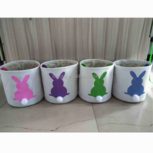 Monogrammed Blank Easter Bunny Tail Buckets Easter Basket