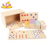 2019 Top sale educational kids wooden dominoes game with customize W15A079