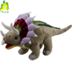 Custom plush triceratop dinosaur in grey