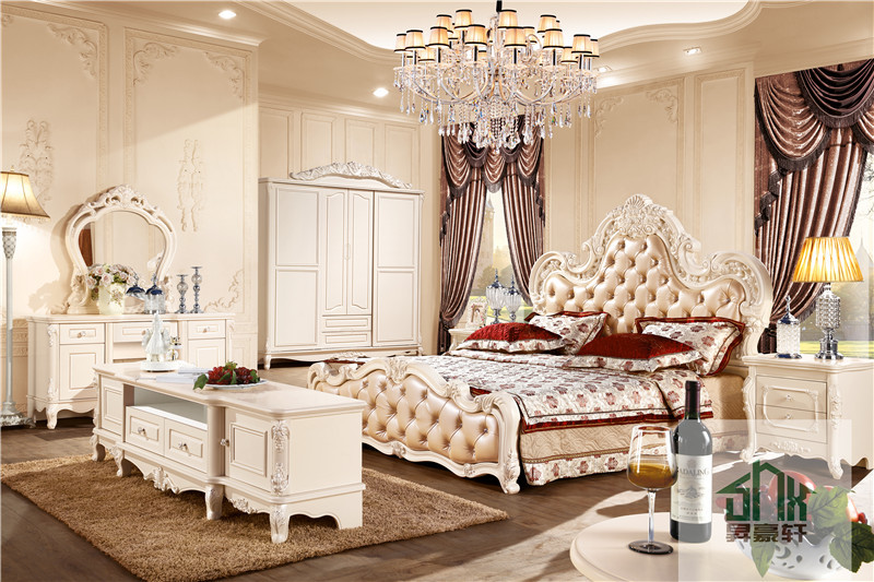Latest Design Antique bedroom furniture set HA-916# European Style Bedroom  Set French Bedroom - Latest Design Antique Bedroom Furniture Set Ha-916# European Style