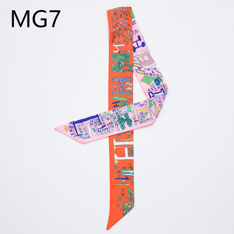 The new classic digital printing tie bag handle scarf small ribbon decorative scarf with ladies scarf