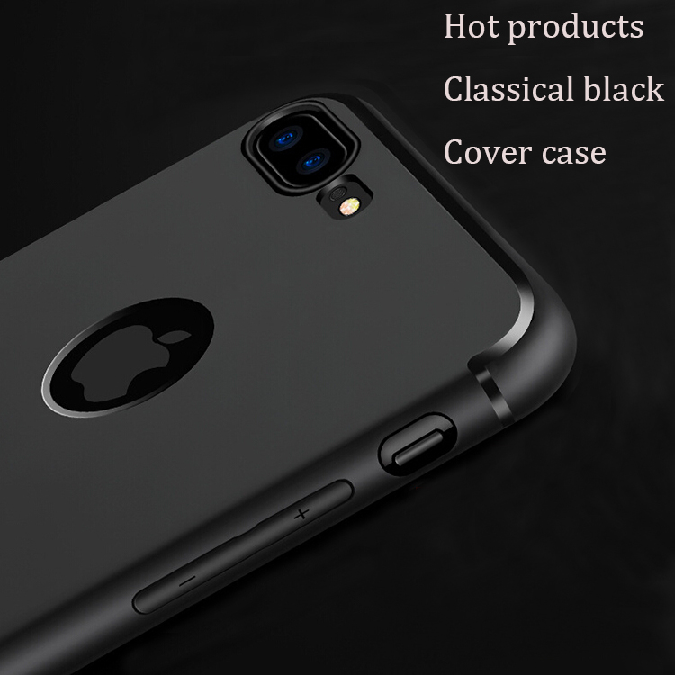 DFIFAN High quality slim fitting protective case for iphone 7 , full matte black phone case for iphone 7 plus