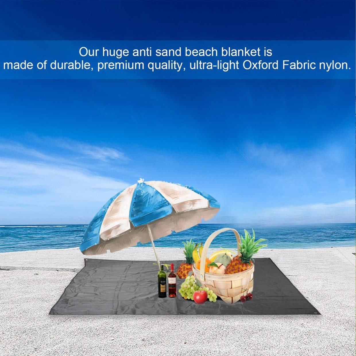 Qewmsg OUTAD Waterproof Portable Oxford Cloth Beach Mat Blanket Outdoor Camp Picnic