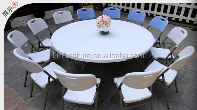 180CM Round plastic folding events party hotel table