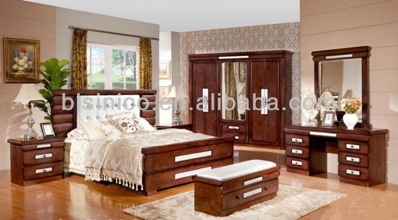 classique en bois massif chambre ensembles de meubles antique ensemble complet de ensemble de lit - Chambre En Bois Massif
