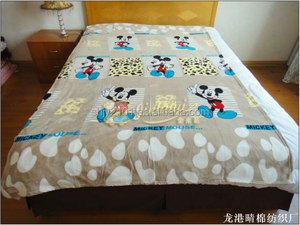China wholesale cartoon printed flannel baby blankets