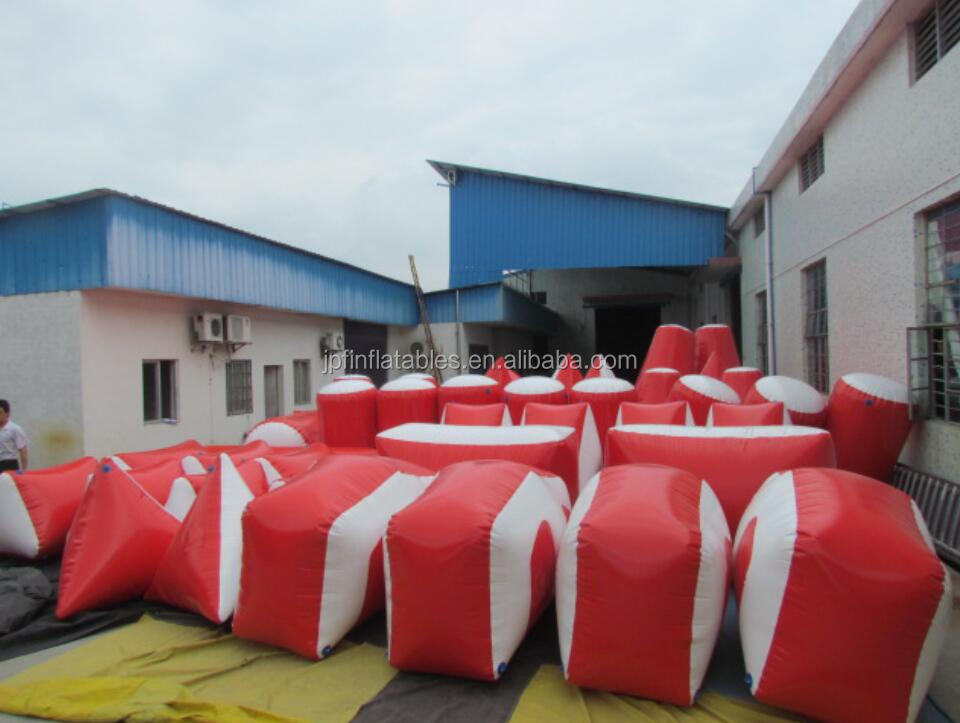 Used Paintball bunker inflatable air bunkers for paintball game