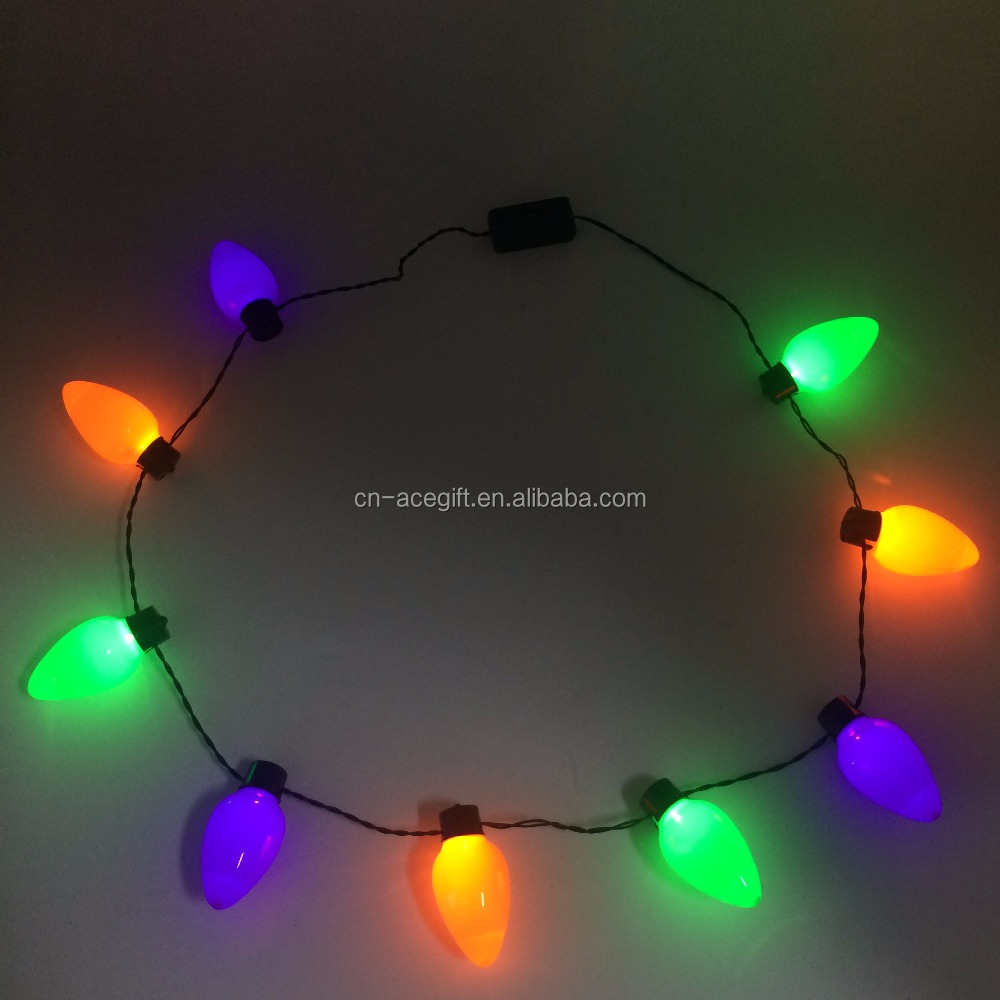 halloween light up necklace halloween light up necklace suppliers and manufacturers at alibabacom - Lighted Christmas Necklace