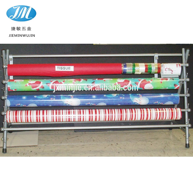 Modern colorful printing wrapping paper display rack for wholesale