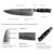 Angele Kitchen Knife Set AUS-10 Damascus steel 8 inch chef Knife with sharpener Kitchen Knife Set