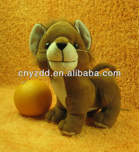 stuffed soft and plush lion/leo/simba toy,children plush grey toy