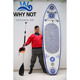 inflatable non-slip eva pad new design sup paddle board stand up