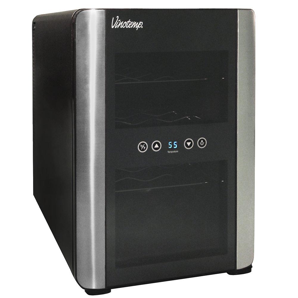 Vinotemp VT-12TEDi 12-Bottle Thermoelectric Wine Cooler, Black