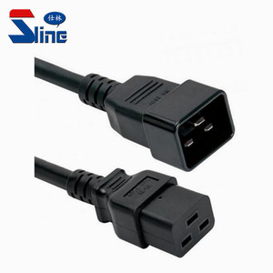 PDU power cord plug IEC C19 to C20 extension cable male to female