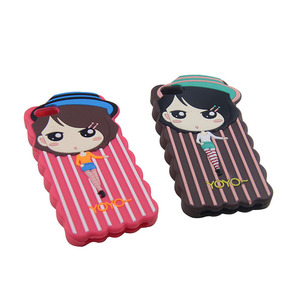 Rubber cell phone case girl mobile phone protective case