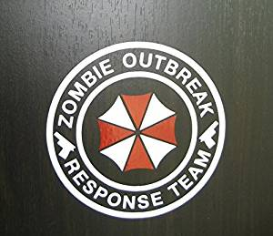 Umbrella Corporation Sticker Decal Aufkleber 15cm Zombie Outbreak Response Team Die Cut Jdm Auto Laptop Domo Kun