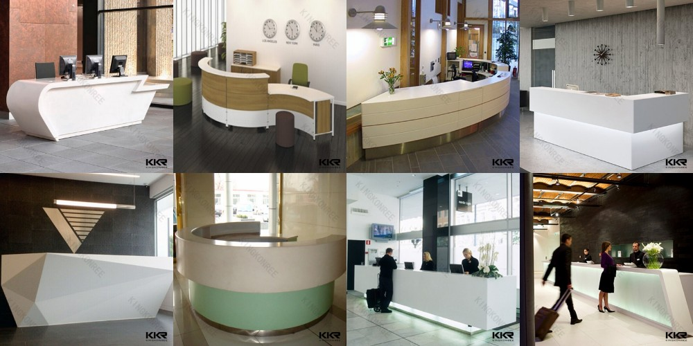 Small Size Hotel Reception Counter Beauty Salon Front Desk - Buy ...