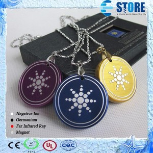 Sunflower Pattern Three Colors Aluminum Titanium Alloy Quantum Scalar Pendant