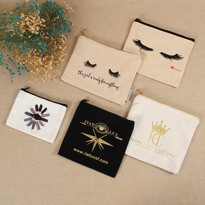 Customized Eco-Friendly Pouch Canvas Makeup Cosmetic Bag
