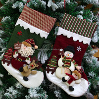 plush personalized red stocking for christmas