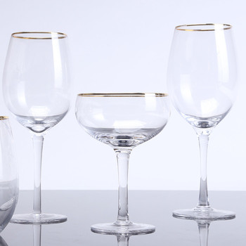 Inlaid With Gold Goblets Crystal Red Wine Gles