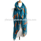 fox print women scarf