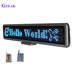 Remote control car led display screen message board