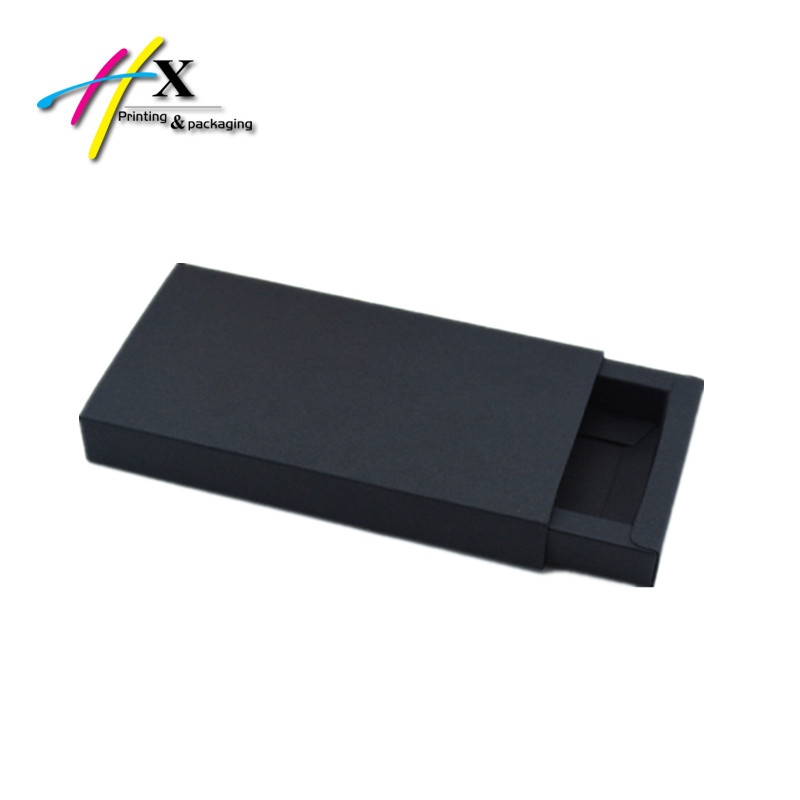Wholesale Custom Drawer Sliding Black Card Paper Packaging Match Box