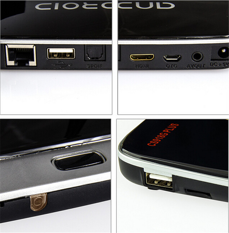Hot Selling free samples with free shipping CS918G Plus Quad-Core Mali-450 1g 8g BT4.0 4K android set top box