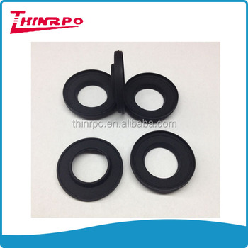 Custom Corrugated Round Rubber Seal Grooved Black Matt Silicone ...