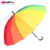 Fashion Big Long Handle Straight Colorful Rainy Umbrella For Two People