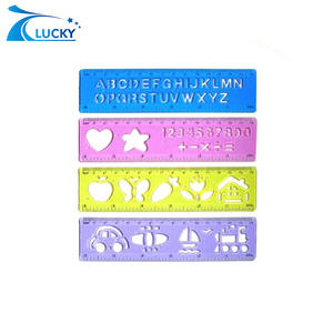 Plastic ruler letter and number construction template