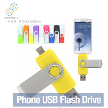 Custom Logo Swivel Otg Usb Dual Flash Drive For Android Smartphone Pendrive