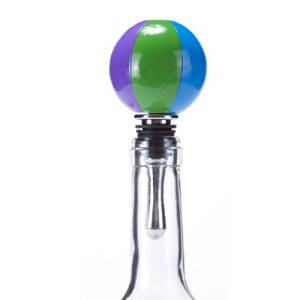 Oenophilia Sports Wine Ball Stopper, Beach Ball by Oenophilia
