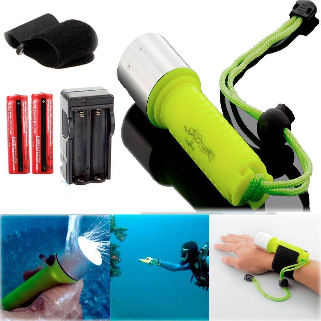 Flashlight torch cree Swimming 2000LM CREE XM-L T6 LED Diving Flashlight Torch 60M Waterproof&Battery tactical flashlight