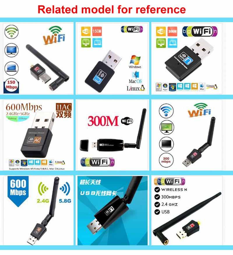 USB Wifi LAN Adapter 150Mbps 2dB Antenna  Long Range PC Network Card 802.11b//n//g